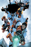 New X-Men: Academy X No16 Group: Hellion  Moonstar  Quill  Surge  Synch and Wind Dancer