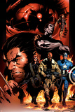 Ultimate Nightmare No1 Cover: Nick Fury  Captain America  Wolverine and Colossus