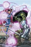 World War Hulk No4 Cover: Hulk and Dr Strange