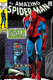 Marvel Comics Retro: The Amazing Spider-Man Comic Book Cover No75  Death Without Warning!