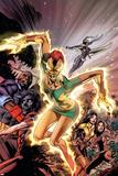 Uncanny X-Men No457 Cover: Phoenix  X-23  Psylocke  Nightcrawler and Storm Charging