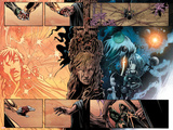 Annihilation: Conquest - Quasar No1 Group: Quasar and Moon Dragon Swinging