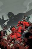 Hulk No50 Cover: Red Hulk Fighting