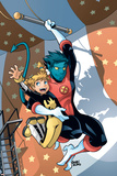 X-Men Power Pack No3 Cover: Nightcrawler and Energizer