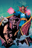 Excalibur No13 Cover: Dr Strange  Magneto and Professor X