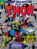 Marvel Comics Retro: The Mighty Thor Comic Book Cover No123  Mystery  Absorbing Man  Odin & Loki
