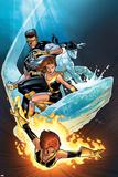 Ultimate X-Men No57 Cover: Grey  Jean  Iceman  Cyclops and Shadowcat Fighting