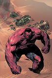 Hulk of Arabia Ashcan No1 Cover: Red Hulk Walking Up a Dune