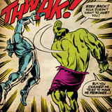 Marvel Comics Retro: The Incredible Hulk Comic Panel  Fighting  Thwak! (aged)