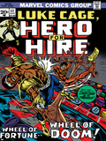 Marvel Comics Retro: Luke Cage  Hero for Hire Comic Book Cover No11  Wheel of Fortune and Doom