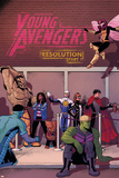 Young Avengers 14 Cover: Prodigy  Rockslide  Miss America  Broo  Gravity  Spider-Girl  Hulkling