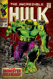 Marvel Comics Retro: The Incredible Hulk Comic Book Cover No105 (aged)