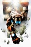 Invincible Iron Man No500 Cover: Iron Man Flying