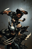 X-Force No1 Cover: Wolverine  X-23  Wolfsbane and Warpath