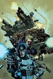 Ultimate Avengers 2 No6 Cover: Punisher  Hawkeye  Black Widow  Tyrone Cash and War Machine