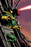 Marvel Adventures Super Heroes No8 Cover: Vision Running