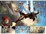 Invincible Iron Man No32: Panels with Iron Man Shooting