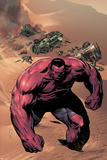 Hulk No42 Cover: Red Hulk Walking up a Dune