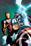 Avengers: Earths Mightiest Heroes No3 Cover: Captain America  Iron Man  and Thor