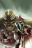Fear Itself: The Worthy No1 Cover: Red Skull  Juggernaut  Hulk  and Grey Gargoyle