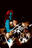 Wolverine No35 Cover: Wolverine and Mystique