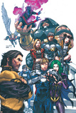Uncanny X-Men No437 Cover: Wolverine  Havok  Juggernaut  Nightcrawler  Angel  Northstar and X-Men