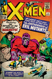 Marvel Comics Retro: The X-Men Comic Book Cover No4  Scarlet Witch  Quicksilver  Toad(aged)