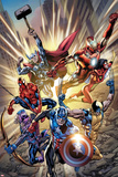 Avengers: Age of Ultron No01 Cover: Captain America  Wolverine  Hawkeye  Spider-Man and Others