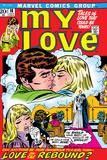 Marvel Comics Retro: My Love Comic Book Cover No18  Kissing  Love on the Rebound