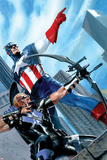 Captain America and Hawkeye No629 Cover: Captain America and Hawkeye