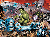 Incredible Hulks No614: A-Bomb  Hulk  Red She-Hulk  Valkyrie  Steve Rogers  She-Hulk  and Nova