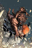 X-Factor No208 Cover: Wolfbane and Shatterstar Falling