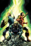 Avengers Prime No4 Cover: Thor  Iron Man  and Tony Stark Standing