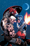 Avengers: X-Sanction No1 Cover: Cable and Captain America Fighting