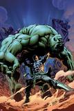 Incredible Hulks No616 Cover: Hiro-Kala and Hulk Fighting