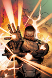 Iron Man 20 No11 Cover: War Machine Shooting Energy