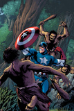 Marvel Adventures Super Heroes No15 Cover: Captain America Fighting with his Shield