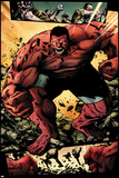 Hulk No42: Panels with Red Hulk  Smashing and Screaming