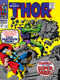 Marvel Comics Retro: The Mighty Thor Comic Book Cover No142  Scourge of the Super Skrull!