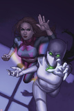Avengers Academy No24 Cover: White Tiger and Lightspeed Running