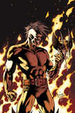 Dark Wolverine No90 Cover: Darken in Flames