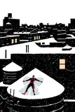 Daredveil No7 Cover; Daredevil Making a Snow Angel on a Rooftop