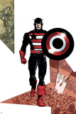 Captain America Corps No3 Cover: Captain America Walking with his Shield