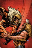 X-Men Forever 2 No7 Cover: Sabretooth Fighting