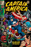 Marvel Comics Retro: Captain America Comic Book Cover No112  Album Issue! (aged)