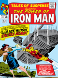 Marvel Comics Retro: The Invincible Iron Man Comic Book Cover No53  Black Widow Strikes Again