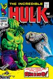 Marvel Comics Retro: The Incredible Hulk Comic Book Cover No104  with the Rhino