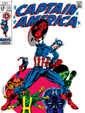 Marvel Comics Retro: Captain America Comic Book Cover No111  with Hydra and Bucky