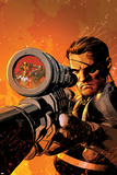 New Avengers No9 Cover: Nick Fury Standing with a Gun