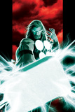 Ultimates No2 Cover: Thor Posing with Mjolnir